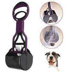 Great Deal Dog Pet Long Handle Pooper Scooper Jaw Clean Pick Up Waste WIth One Random Color Poop Bag * More info @