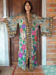 Women's Indian Boho Kimono/Coat/Jacket/Robe Maxi by SpellMaya