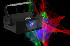 Dieser fantastische Effekt setzt einen 40mW grünen Laser + 150mW roten Laser kombiniert mit einem schönen blaue Water Wave LED Projektor (Wasserprojektor) ein.
