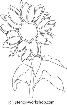 Sunflower Stencil - 4