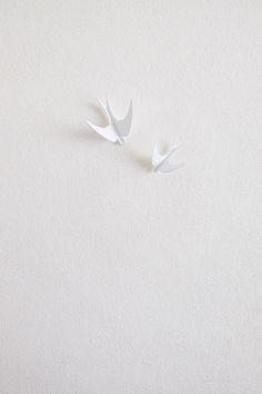golondrinas colgador blanco