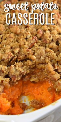 Nutritious Snack Tips For Equally Young Ones And Adults In My Family, The Best Sweet Potato Casserole Recipe Is One Thats Served Up Sweet And Salty With A Delicious, Crunchy Streusel Topping Sweet Potato Cassarole, Best Sweet Potato Casserole, Sweet Potato Souffle, Vegetable Dishes, Vegetable Recipes, Comfort Food, Food Dishes, Side Dishes, Food Network