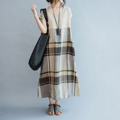 linen dress for women/women linen loose dress/linen by babyangella