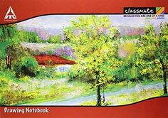 Classmate Drawing Book - Unruled, 40 Pages, 210 mm x 297 mm, Pack of 12 Drawing Books For Kids, Basic Sketching, Long Books, Amazon Image, Optical Illusions, Lovers Art, Cover Design, A4