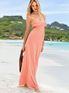 Victoria's Secret Clothing 2013. Idk about the cutout and the length, but I love the color, and the ruffle top.