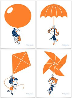 Volare is a four-illustration collection dedicated to the importance of exercising imagination. Each image is designed searching a very iconic result through a naive and fun aesthetic.