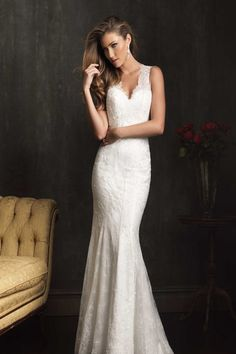 Beautiful Wedding Dress - Allure Bridals; if this had an open/low cut back this would be perfect