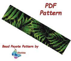 Beaded floral peyote pattern Beadweaving pattern Miyuki pattern Beadwork pattern Seed bead bracelet pattern Peyote PDF pattern Peyote stitch by OksAnnaBeadPatterns on Etsy Bead Loom Bracelets, Peyote Beading, Beaded Bracelet Patterns, Bead Embroidery Patterns, Peyote Patterns, Loom Patterns, Beading Patterns, Knitting Patterns, Flowers