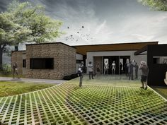 Paisaje: Arquitectura + Silvicultura + Plataforma de Concreto y Jardín