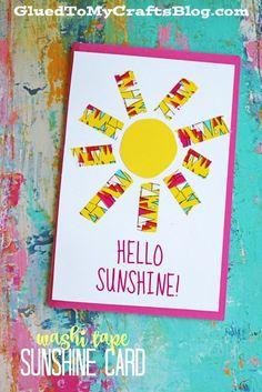 Washi Tape Sunshine Card