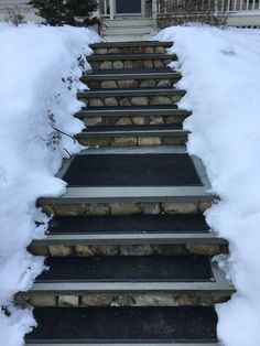 I'm standing in front of my HeatTrak system in front of my home on bluestone steps that I have not shoveled in 3 years. Snow Melting Mats, Freezing Rain, Front Steps, Barndominium, Hampshire, 3 Years, Winter Wonderland, My House, Dan