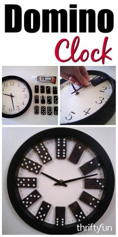 This is a guide about making a domino clock. Turn an inexpensive wall clock into a unique decoration that is fun and functional.