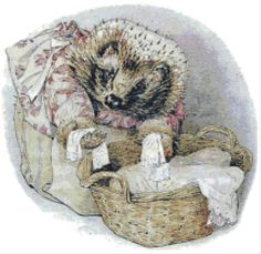 Mrs-Tiggy-Winkle-Folds-Clothes-Counted-Cross-Stitch-Chart-Beatrix-Potter