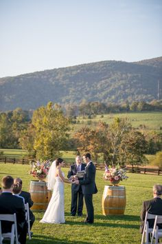 Winery wedding by TALLsmall Photo... I like the way they set that up