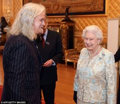 Chuckle: This picture looks as though The Queen has been hit by one of comedian and actor Billy Connolly's jokes