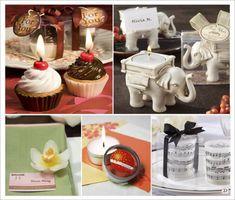 cadeaux invites mariage bougie elephant orchidee cupcake photophore