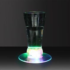 Transparent LED Coaster &Flashing Led Coaster| GF Brand