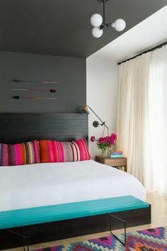 Chambre à coucher-  103 Grandes idées - ameulbement-chambre-a-coucher-locore-tete-a-lit
