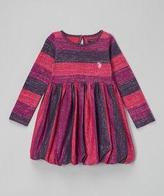 Pink Stripe Bubble Dress - Toddler #zulily #zulilyfinds