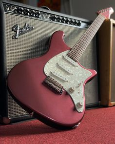 What do you think of the burgundy mist finish and matching headstock on this John Page Classic Limited Edition Ashburn? This very cool electric guitar is equipped with Bloodline single coils, a 5-way switch, and vintage style tremolo. Give it a spin with our 360 photo at elderly.com.