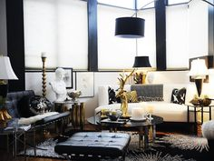 Old Hollywood Glamour in the Living Room