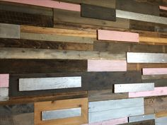 Plank wall for office entrance. Office Entrance, Plank Walls, Wood, Crafts, Planked Walls, Manualidades, Woodwind Instrument, Trees, Handmade Crafts