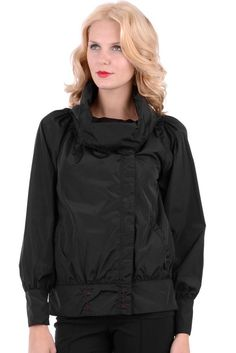 Short Length Jacket With Oversized Collar