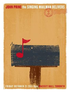 A beautifully minimalist poster with a rustic appeal.