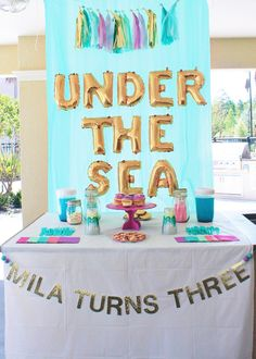 Mermaid under the sea birthday party