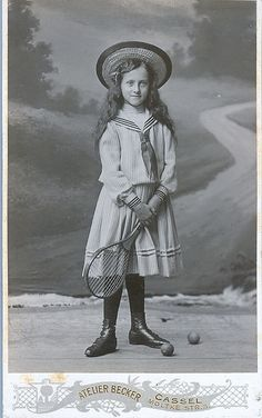 SHARED BY RALEIGH DeGEER AMYX - CIRCA 1905 - #TENNIS - AND THE OUTFIT EXPECTED AT THAT TIME FOR A YOUNG LADY OF MEANS