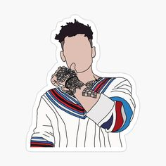 Zayn Malik Drawing, Desenhos One Direction, One Direction Art, Harry Styles Drawing, Outline Art, Red Bubble Stickers, Nature Aesthetic, Tumblr Stickers, Collage Design