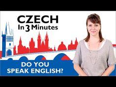 Learn Czech - Do You Speak English? - Czech in Three Minutes - YouTube
