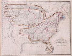 Eagle map of the United States.