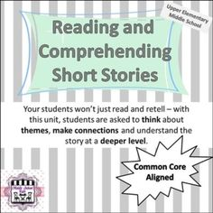 This unit can be used for ANY short story, play or mini-novel. It will help your students organize the story in a way that helps them meet standards. Reading Binder, School Cafe, Middle School Writing, Social Studies Classroom, Writing Strategies, Teaching Language Arts, Unit Plan, Learn To Read, Teaching Materials