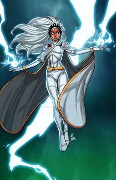 I haven't posted in a while and I do have some art to submit, so here is a newer piece. I love Storm, as you guys know. BUT I feel I never do her justice. So, I sat down one afternoon to just draw. Comic Book Characters, Marvel Characters, Comic Character, Comic Books Art, Comic Art, Book Art, Female Characters, Fictional Characters, Storm Comic