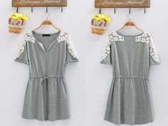 Buy Lace Floral Casual Mini Dress from drgrab.com.au with free shipping!