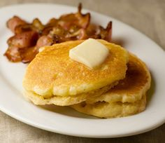 Buttermilk Cornmeal Pancakes, otherwise known as tonight's dinner!