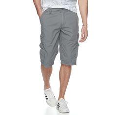 Men's Urban Pipeline® Messenger Cargo Shorts, Size: 33, Grey