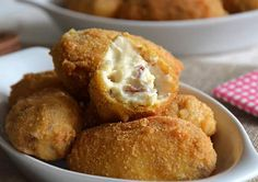 Croquettes au jambon avec Thermomix - The Best Sea Recipes Eclair, Brunch, Good Foods For Diabetics, Some Recipe, Food Items, Fruits And Veggies, Diabetic Recipes, Healthy Cooking, Cooking Time