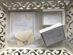 Willkommen auf meinem Blog!  Schön dass ihr hier vorbei schaut!   Heute zeige ich euch eine zweite Variante für ein Hochzeitsset! Dieses Mal...