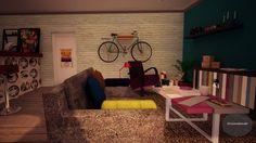 """Nuestro primer espacio en la nube...""""La casa de Carlota""""... http://haciendolacalle.tumblr.com/post/23938114642/render-carlota"""