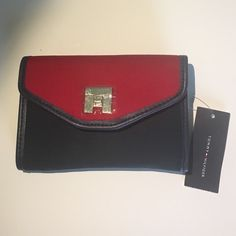 Tommy Hilfiger Wallet. Tommy Hilfiger women's continental flap clutch wallet organizer, red and navy blue colors.  Brand new. Tommy Hilfiger Bags Wallets