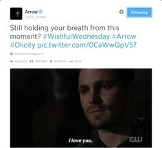 Gawd I think I died at this part... #Arrow