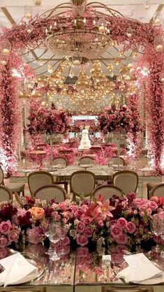 Wedding Hall Decorations, Desi Wedding Decor, Wedding Entrance, Stage Decorations, Wedding Themes, Wedding Centerpieces, Wedding Table, Wedding Venues, Luxury Wedding Decor