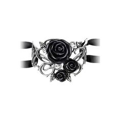 Bacchanal Rose Bracelet by Alchemy Gothic ($42) ❤ liked on Polyvore featuring jewelry, bracelets, rose jewellery, rose bangle, goth jewelry, rose jewelry and clear jewelry