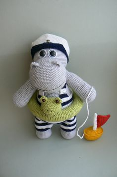 Ravelry: Hippo who loves to swim by Katka Reznickova
