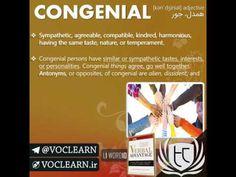 کلمه congenial از کتاب Verbal Advantage - سطح 1