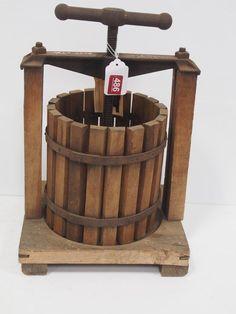 Wooden SC & W Co. Wear Ever Fruit Press...