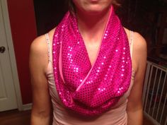 Pink and Sequin Infinity Scarf by Zeetique on Etsy, $12.00