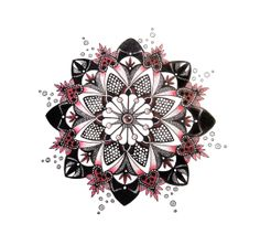 Black and Red Mandala Tattoo Design | G Tattoo Design